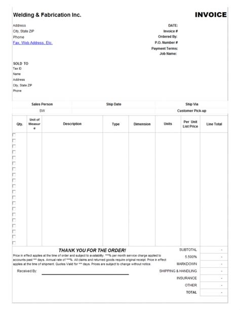 garage invoice template garage invoice template free invoice template 2017