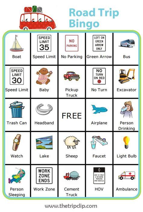 printable road trip bingo unlimited bingo boards plus lots of other printable