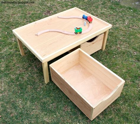 Play Table With Storage by That S Letter Diy Play Table 24 Quot X 36 Quot With Storage Bins Free Plans