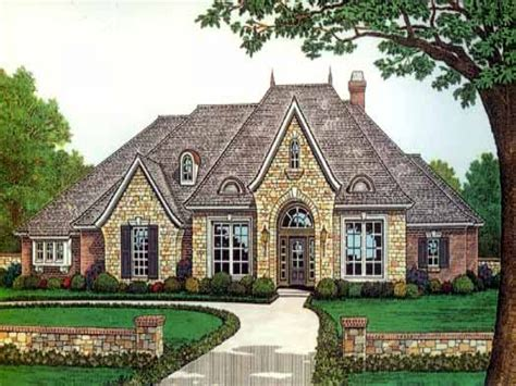 One And Half Story French Country House Plans