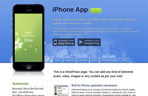 themes for iphone apps 1 iphone app wordpress theme for iphone developers best