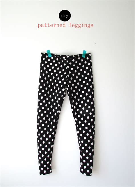pattern leggings sewing make your own patterned leggings francois et moi