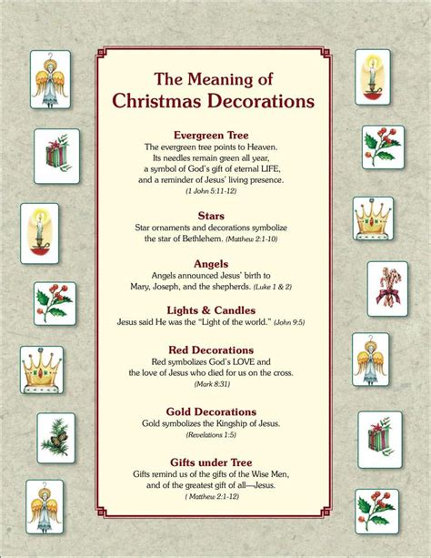 28 best symbolism of the christmas tree free minibook