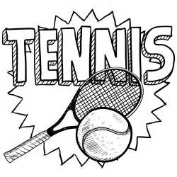 Tennis Racket Coloring Pages sketch template