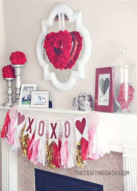 s day decor beautiful s day mantel decorations 2017
