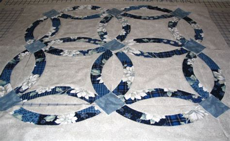 """Double Wedding Ring Quilt made by Jean"""