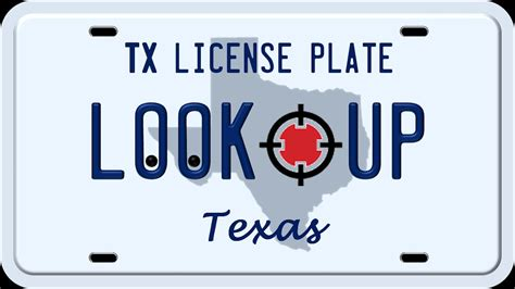 Tx Number Search How To Search A License Plate Number