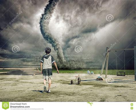 tornado boys boy and tornado stock photography image 17754242
