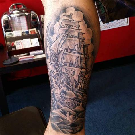 black and grey calf tattoos 20 sailor tattoo designs ideas design trends premium