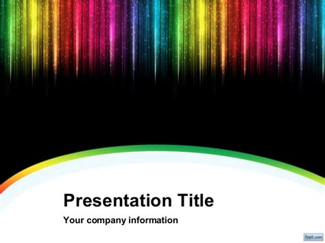 Color Rain Powerpoint Background And Template For Cool Cool Powerpoint Title Slides