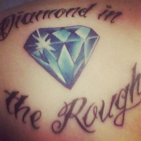 diamond in the rough tattoo designs my in the the artist did a beautiful