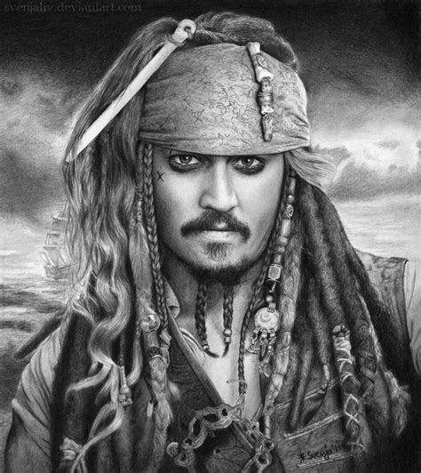 sketch tattoo johnny depp wow that is an amazing drawing of jack sparrow believe