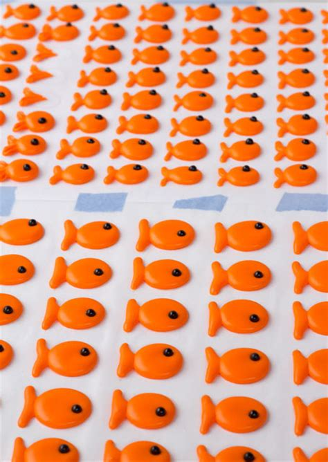 Goldfish Royal Icing Transfers Template Goldfish Royal Icing Transfers Template The Bearfoot Baker