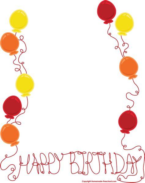 Happy Birthday Border Cliparts Co Free Birthday Border