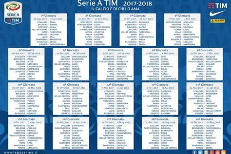 Calendario S Erie A Il Calendario Della Serie A 2017 2018 Il Posticipo