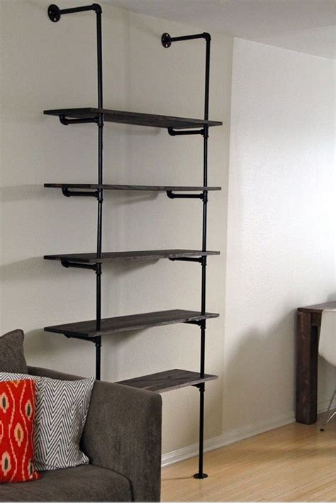 water pipe book shelfs ideas