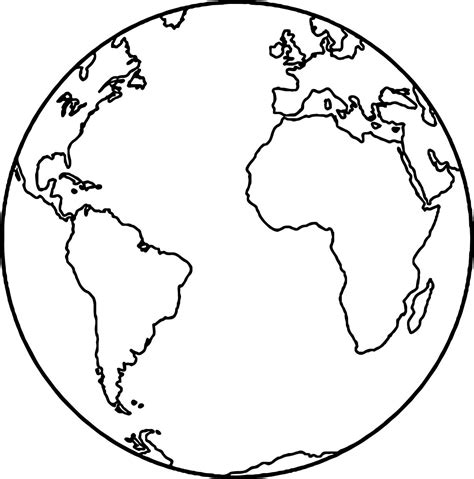 Earth Globe Coloring Page Wecoloringpage Globe Coloring Pages