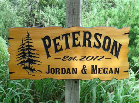 Cabin Signs by Personalized Cabin Signs 30 X 14 Routed Wood