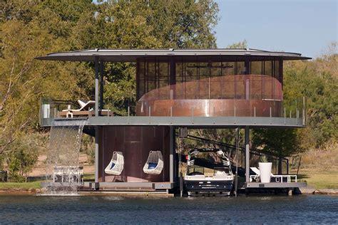 shore vista boat house lake by bercy chen