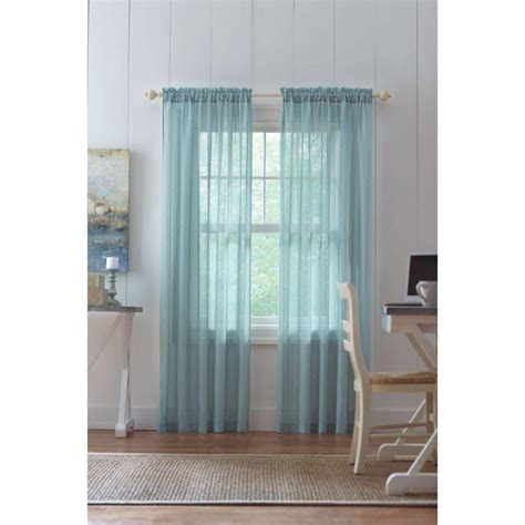 home decorators collection sheer sand rod pocket printed home decorators collection aqua highline textured sheer