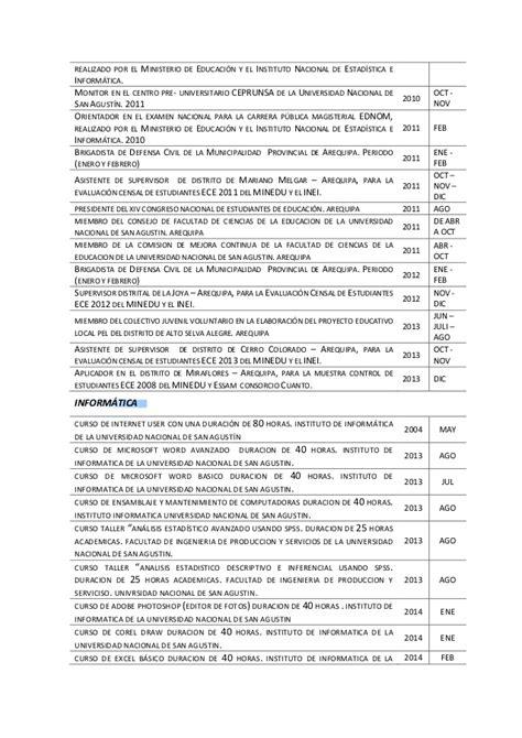 Modelo De Curriculum Vitae Para Trabajo De Docente Modelo De Curriculum Vitae Docente Modelo De Curriculum Vitae