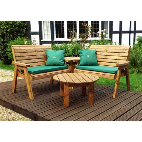 home gift garden solid wood  seater twin garden companion