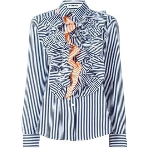 jil sander ruched t shirt dress shopstasy 1000 ideas about blue striped shirts on