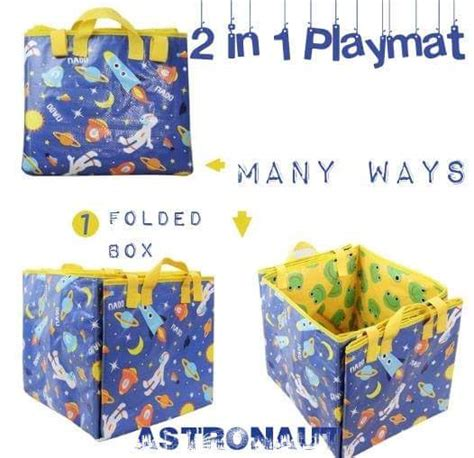 Souvenir Box Partytempat Mainan 4 jual 2in1 playmat tempat mainan lipat astronout container folded import box cl accessories