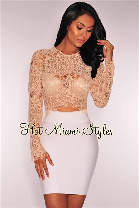 Sheer Lace Sleeve Top sheer lace sleeves crop top