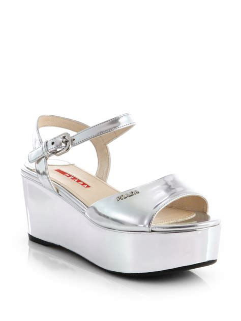 Wedges Baby Pink 4ps 01 silver metallic platform heels is heel
