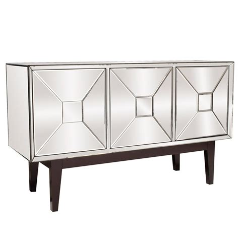 mirrored buffet cabinet mirrored buffet cabinet with three doors 68086 the home depot