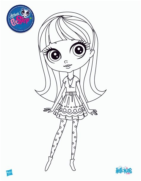 littlest pet shop coloring pages zoe trend az coloring