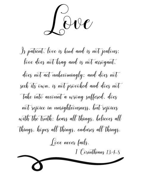 1 Corinthians 13:4-8, love is patient, scripture black