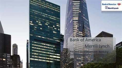 Bank Of America Mba by Investment Banking Project On Bank Of America Merrill Lynch