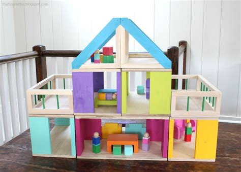 ana white   modular stackable dollhouse diy projects
