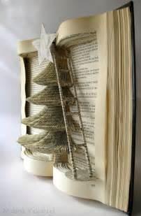 Book Folding Christmas Trees