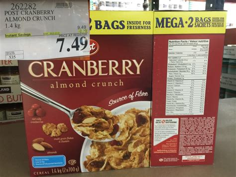 Post Cranberry Almond Crunchpost Cereal cranberry almond crunch cereal ingredients