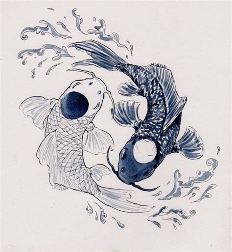 yin yang koi tattoo yin yang koi fish tattoo tatto pinterest koi fish