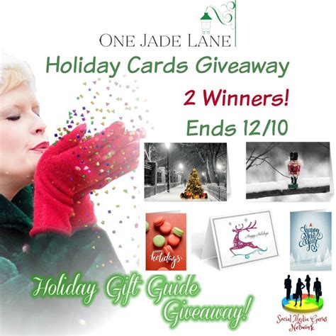 Holiday Giveaway - giveaway win holiday cards from one jade lane mystylespot