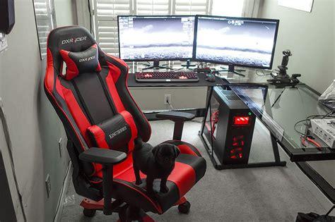 gaming computer desk for monitors amazing battle station gaming computer desk setup black