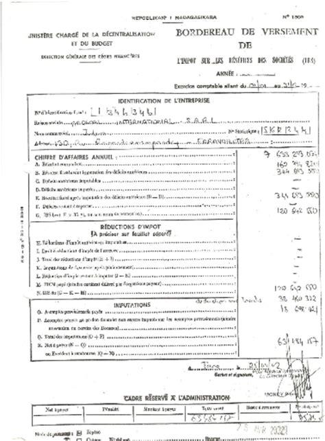 Exemple Bordereau De Situation Fiscale Modèle P 237 memoire fiscalit 233 et choix de gestion rojo