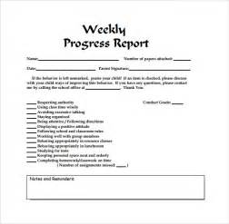 Weekly Progress Report Template by Weekly Report Template 12 Free Documents In Pdf