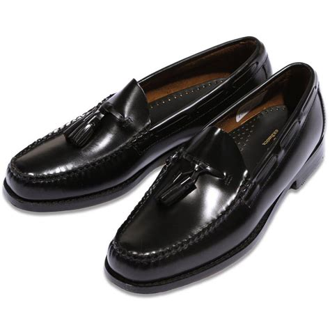 loafer black bass weejuns league mod 60 s leather plain top