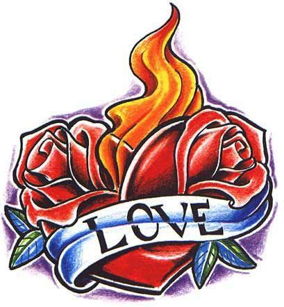 hearts of fire tattoo valentines hearts on and designs on