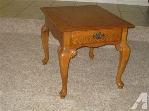 solid oak coffee table two end tables claw