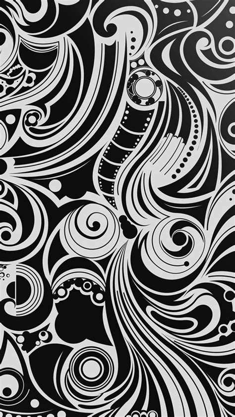 Air Pattern Iphone All Hp hd background black and white wave pattern wallpaper
