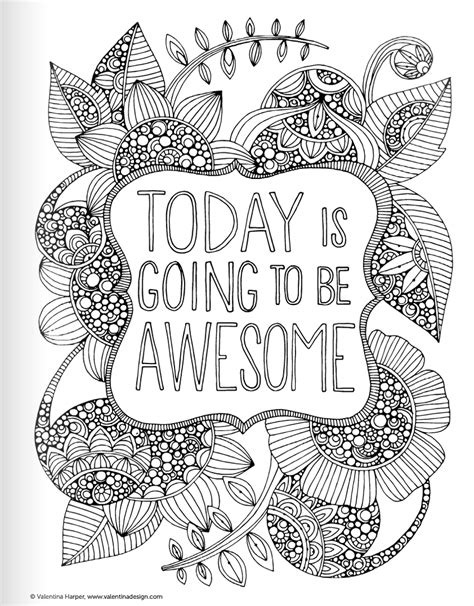 coloring pages for adults inspirational inspirational quotes coloring book for adults