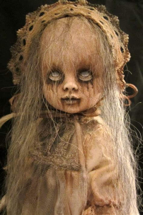 creepiest dolls from horror movies that will scare you creepy girl ghost ennui ooak gothic horror repainted