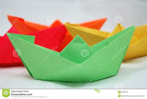 Origami Boat Hat - origami boats or hats royalty free stock photo image