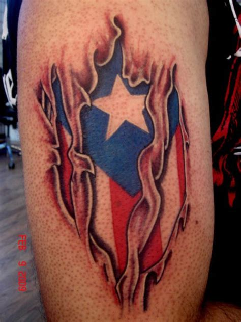 tattoos of puerto rican designs flag picture skin tear tattoos